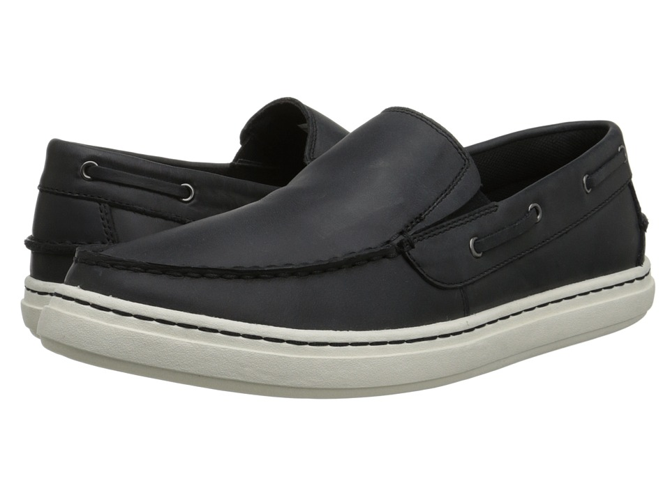 Sebago - Windhall Slip-On (Black Leather) Men's Slip on Shoes