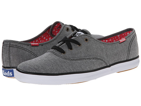 Keds - Champion Chambray (Black Chambray) Women