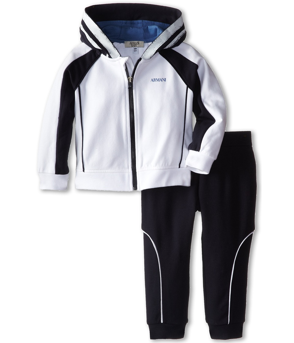 Armani Junior - Two-Piece Hooded Track Suit (Infant) (Bicolor Two-Tone 2) Boy