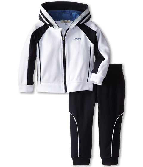 Armani Junior - Two-Piece Hooded Track Suit (Infant) (Bicolor Two-Tone 2) Boy's Active Sets