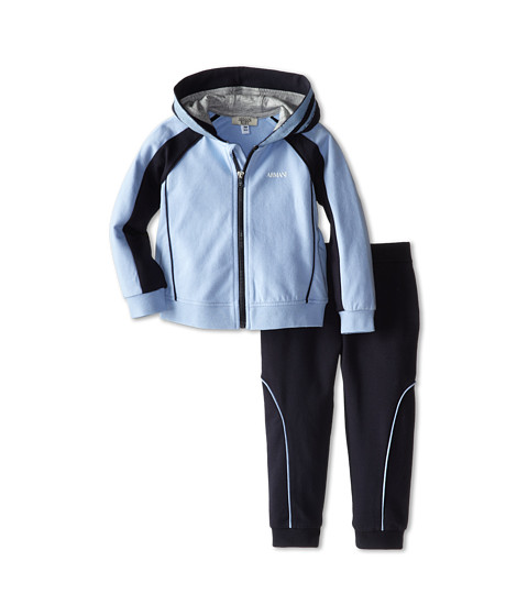 Armani Junior - Two-Piece Hooded Track Suit (Infant) (Bicolored Two-Tone) Boy's Active Sets