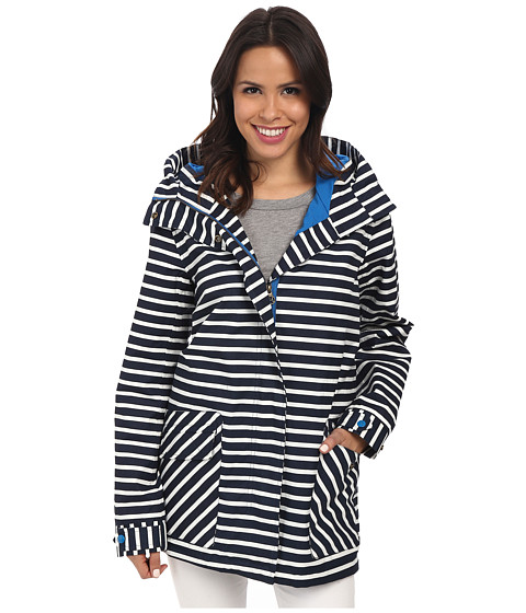Hatley - Soft Shell Rain Jacket (Nautical Stripes) Women