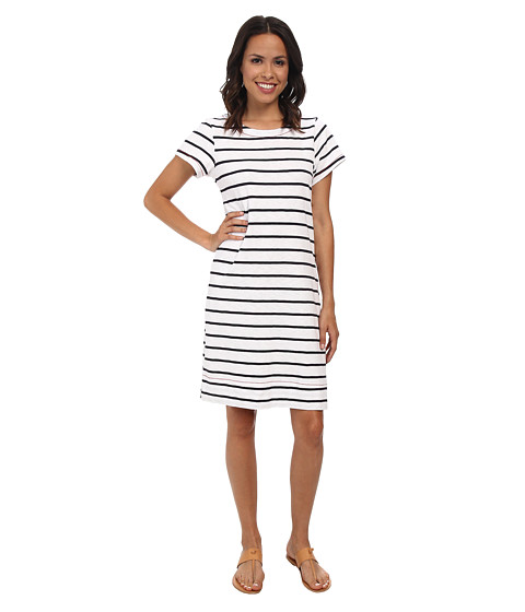 Hatley - T-Shirt Dress (White/Navy Stripes) Women's Dress