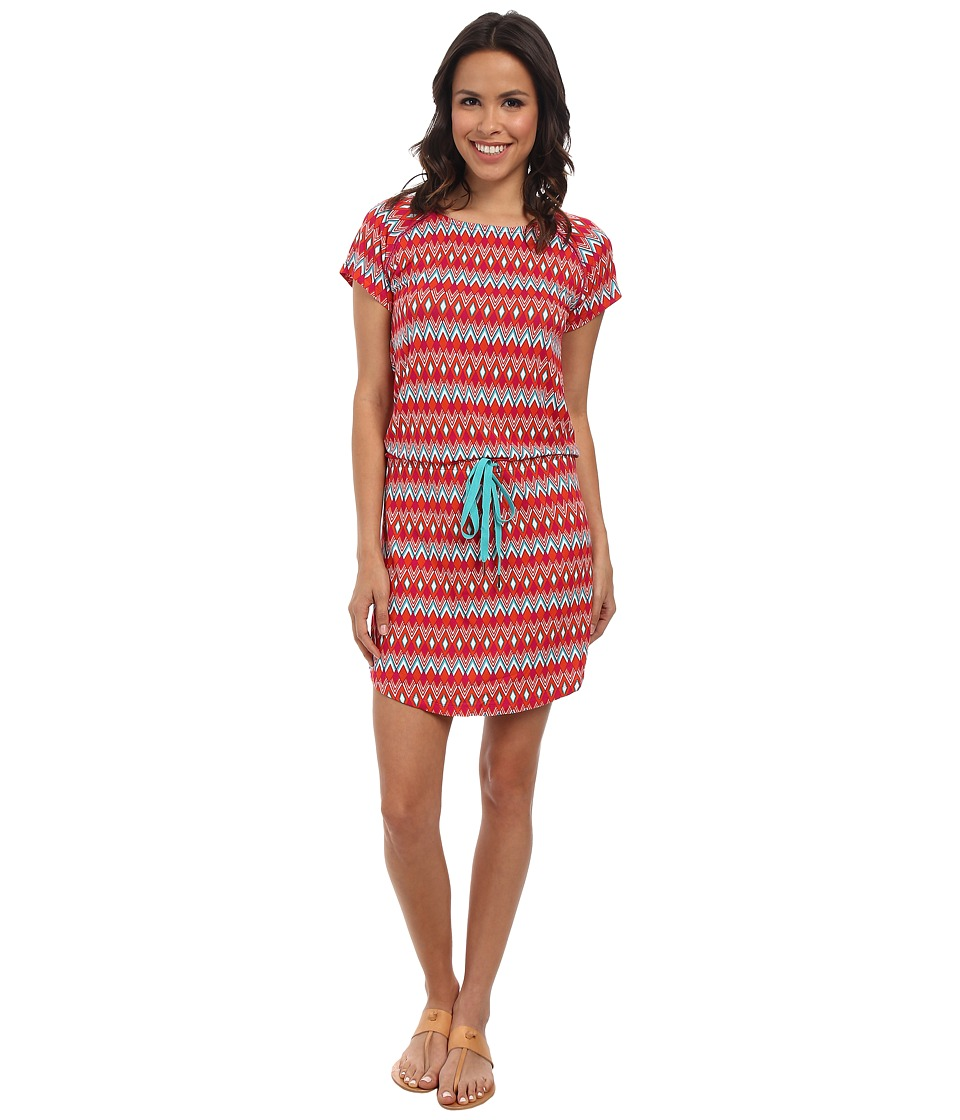 Hatley - Dropped Waist Dress (Fuchsia Diamonds) Women