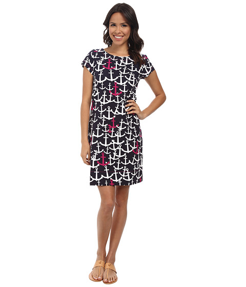 Hatley - T-Shirt Dress (Scattered Anchors Fuchsia) Women's Dress