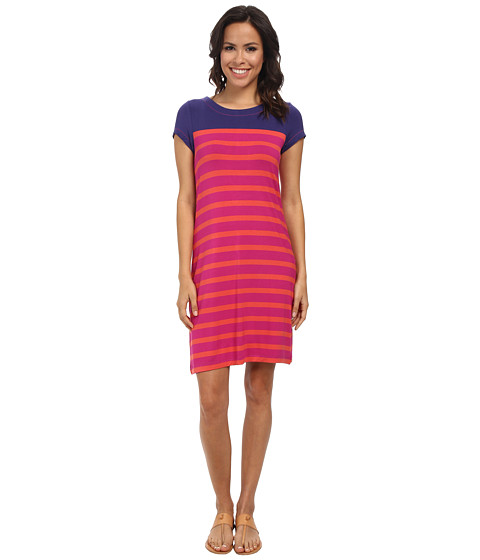 Hatley - T-Shirt Dress (Fuchsia Stripes) Women