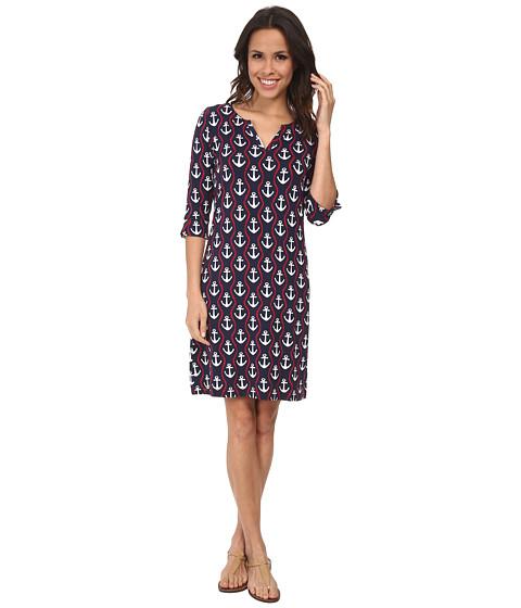Hatley - Peplum Sleeve Dress (Ropes/Anchors) Women's Dress