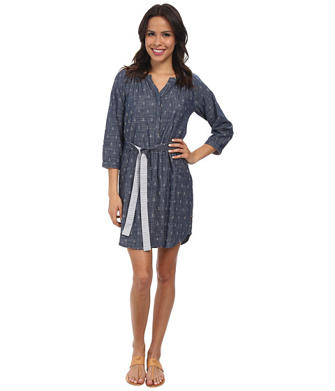 Hatley - Shirt Dress (Chambray Anchors) Women's Dress