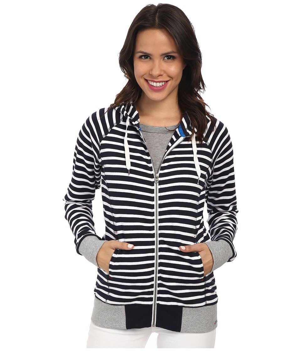 Hatley - Hoodie (Navy/White Stripes) Women's Sweatshirt