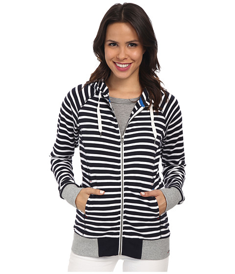 Hatley - Hoodie (Navy/White Stripes) Women