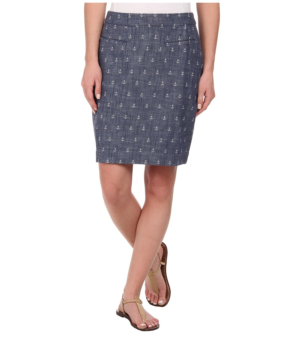 Hatley - Zip Back Skirt (Chambray Anchors) Women's Skirt