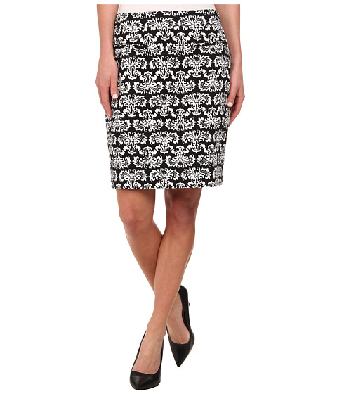 Hatley - Zip Back Skirt (Black/Ivory Batik) Women's Skirt