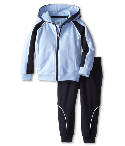 Armani Junior - Two-Piece Hooded Track Suit (Toddler/Little Kids/Big Kids) (Bicolored Two-Tone) Boy