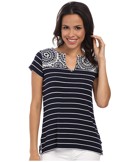 Hatley - Mix Match Tee (Navy Mosaic) Women's T Shirt