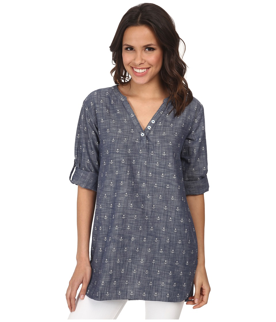 Hatley - Classic Tunic (Chambray Anchors) Women's Clothing