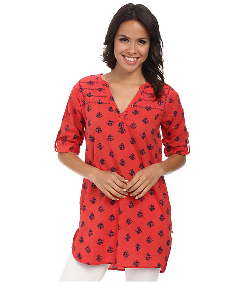 Hatley - Classic Tunic (Ultramarine/Red Coral Thistle) Women