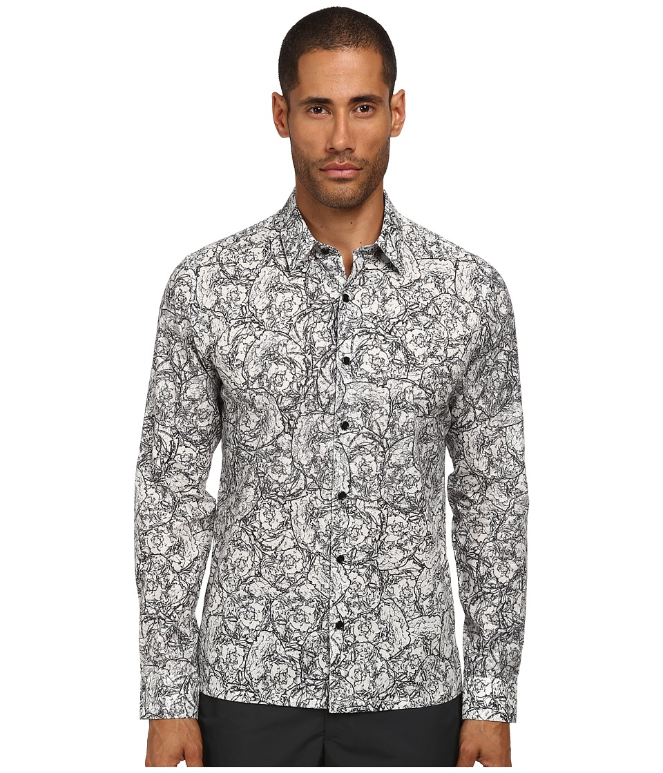 Theory - Efron Ranunculus Print (White Multi) Men