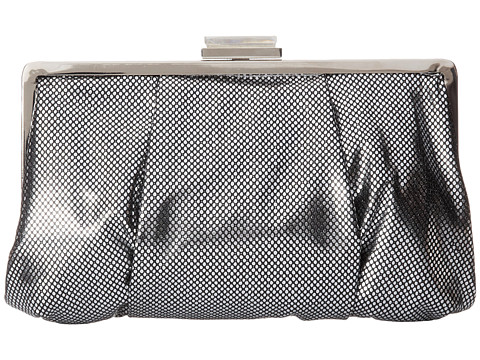 Franchi Handbags - La Sera Framed Clutch (Silver) Clutch Handbags
