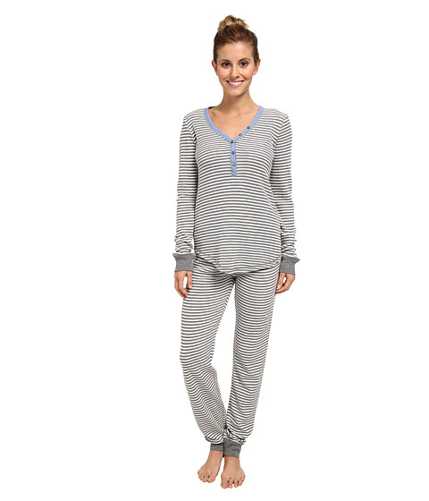 P.J. Salvage - Chambray Ski Set (Heather Grey) Women's Pajama Sets
