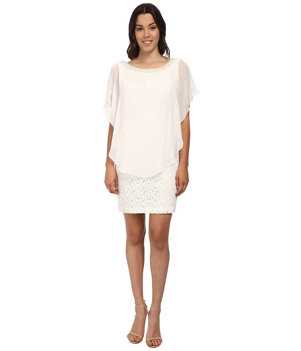 rsvp - Zoe Overlay Dress (Ivory) Women's Dress