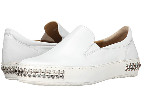 Cesare Paciotti - Studded Slip-On Sneaker (White Calf) Men