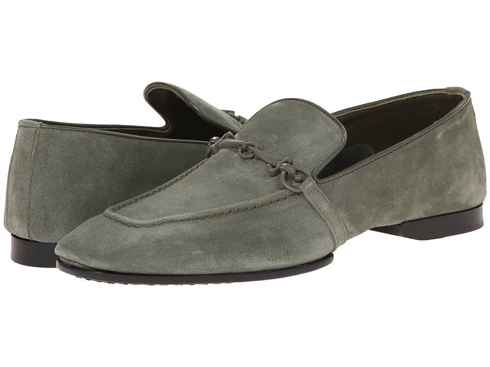 Cesare Paciotti Suede Loafer (Military Green Suede) Men