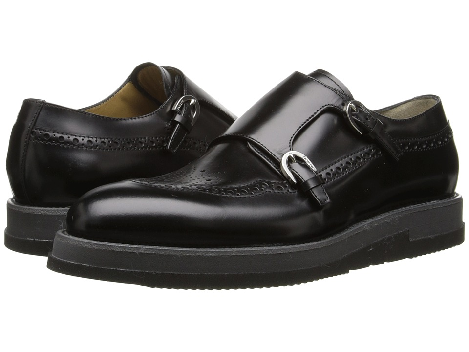 Cesare Paciotti - Platform Monk Strap Oxford (Black Shining Calf) Men's Lace up casual Shoes