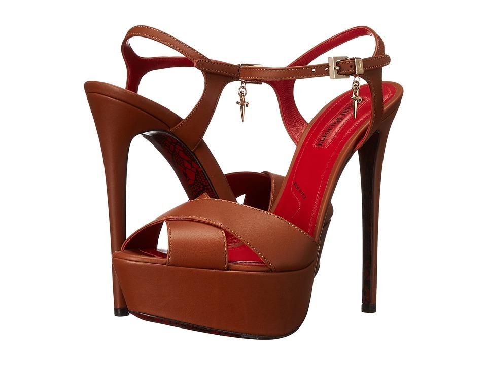 Cesare Paciotti - Platform Ankle Strap Sandal (Tan Calf) Women's Sandals