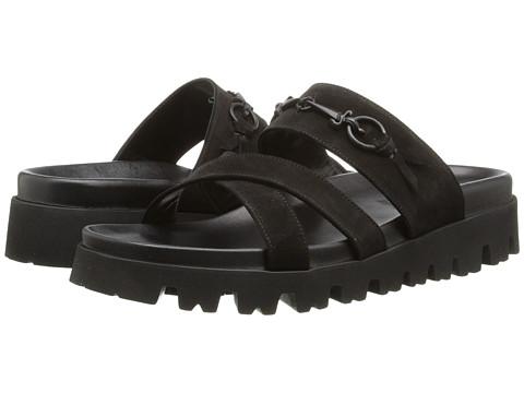 Cesare Paciotti - Platform Slide Sandal (Black Suede) Men