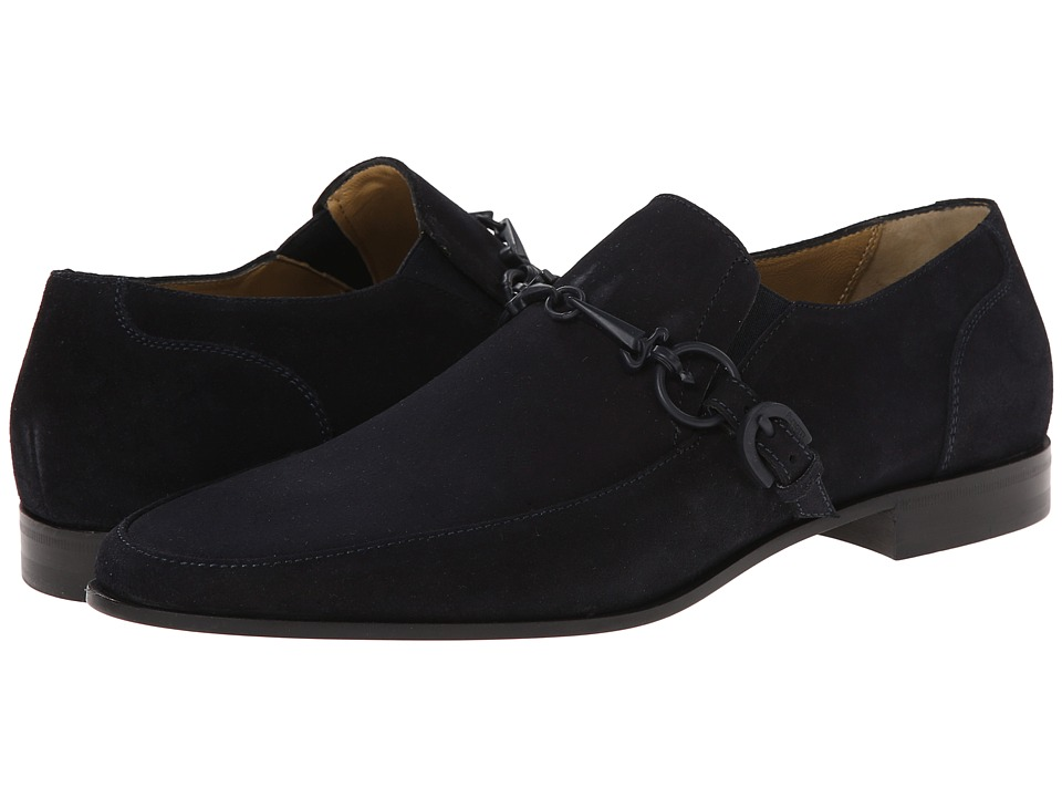Cesare Paciotti - Classic Loafer (Navy Suede) Men's Slip on Shoes