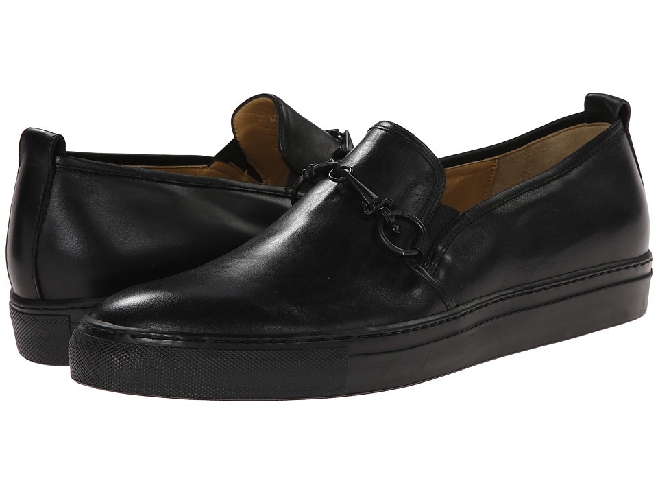Cesare Paciotti - Leather Slip-On Sneaker (Black Calf) Men