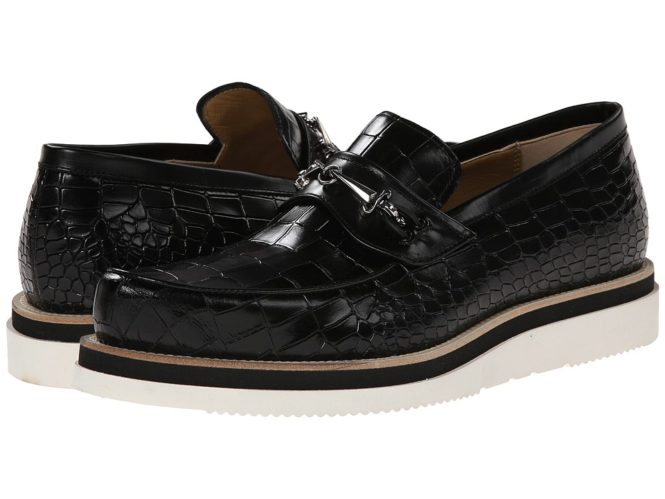 Cesare Paciotti - Platform Loafer (Black Printed Cocco) Men
