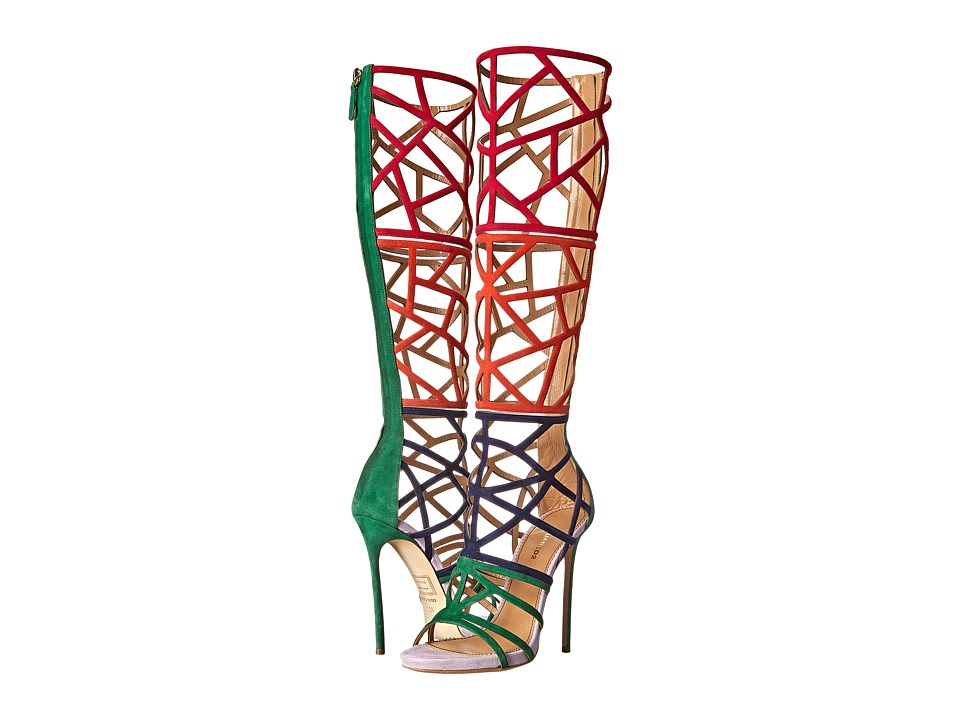 DSQUARED2 - Strappy Cutout Boot (Lilla/Verde/Navy) Women