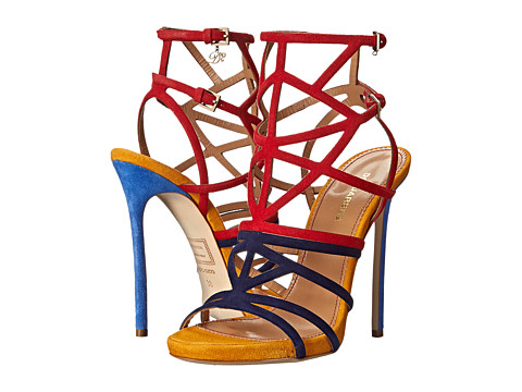 DSQUARED2 - Strappy Color Block Sandal (Ocra/Navy/Rosso) Women's Sandals