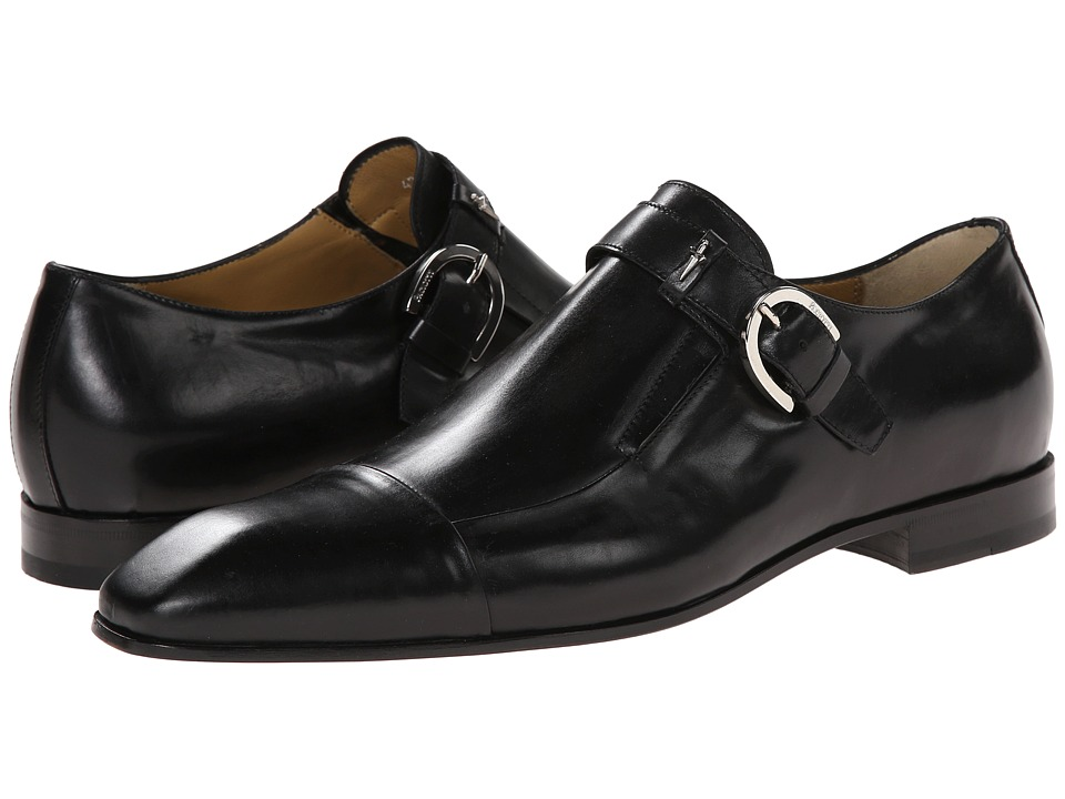 Cesare Paciotti - Classic Monk Strap Oxford (Black Calf) Men