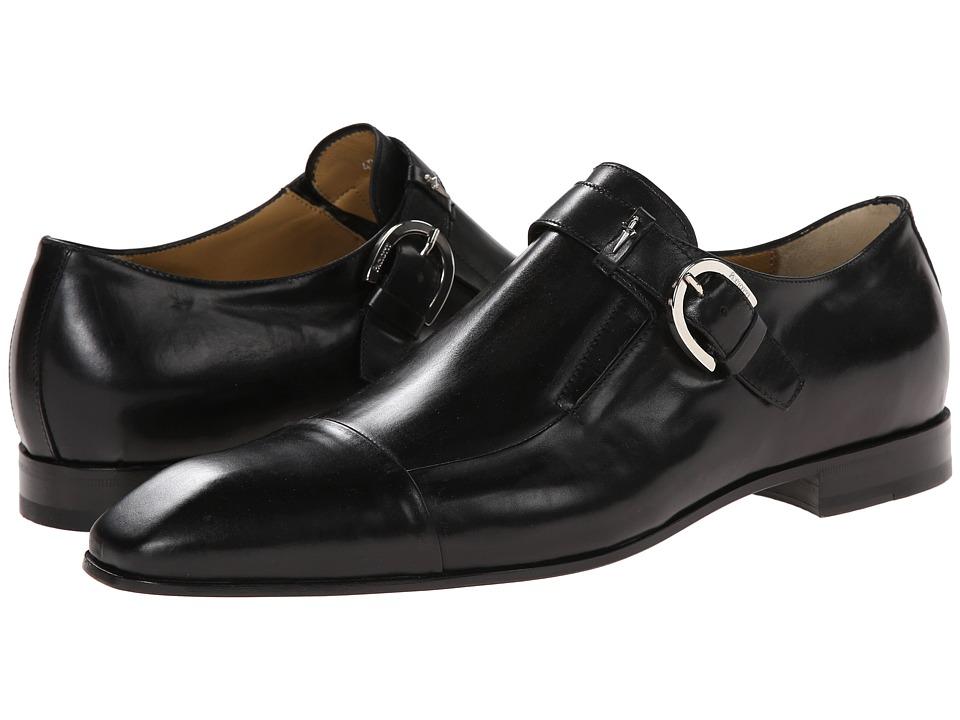 Cesare Paciotti - Classic Monk Strap Oxford (Black Calf) Men's Lace up casual Shoes