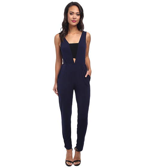 BCBGeneration - Knit Sportswear Jumper (Eclipse Blue Combo) Women's Jumpsuit & Rompers One Piece