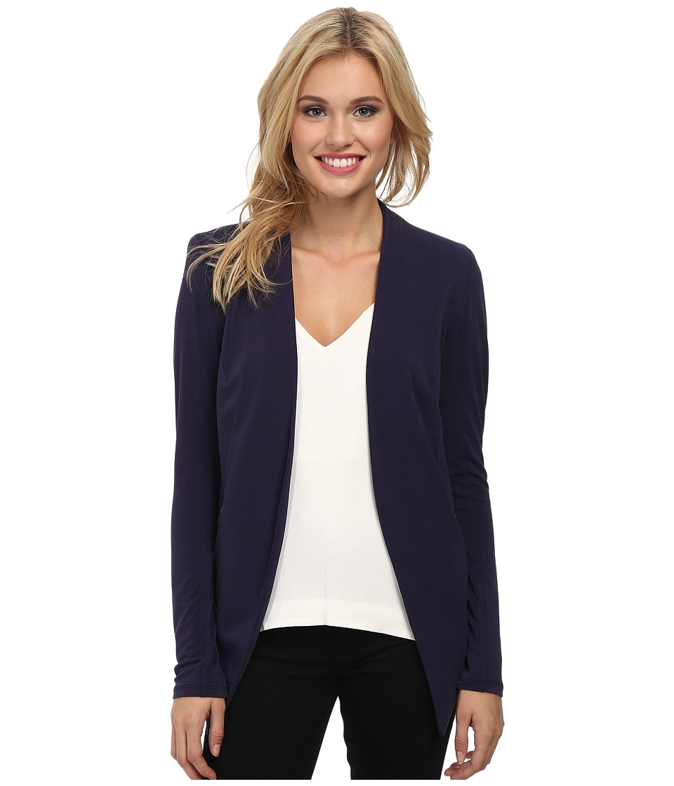 BCBGeneration - Knit Sportswear Jacket (Eclipse Blue) Women's Jacket