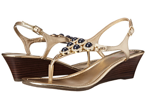 Lilly Pulitzer - Beach Club Wedge (Gold Metallic) Women's Wedge Shoes