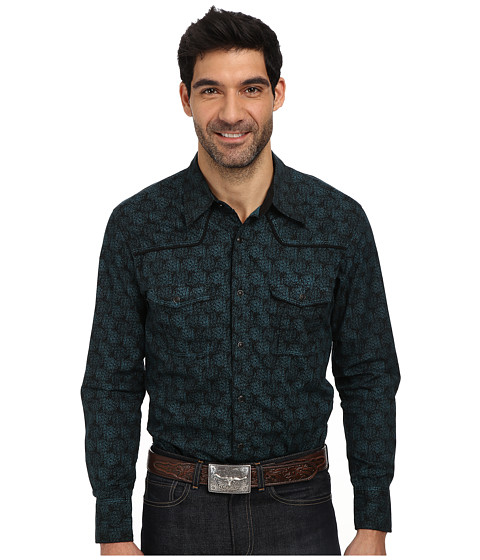 Rock and Roll Cowboy - L/S Snap B2S1362 (Turquoise) Men's Long Sleeve Button Up