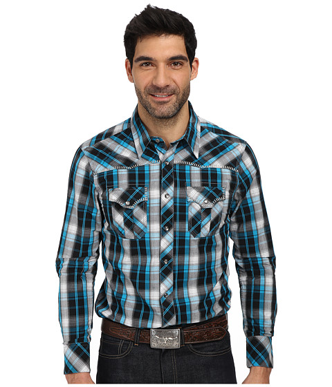 Rock and Roll Cowboy - L/S Snap B2S1359 (Turquoise) Men's Long Sleeve Button Up
