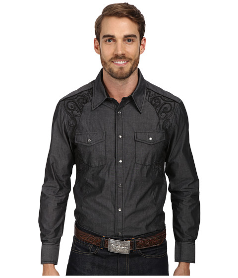 Rock and Roll Cowboy - L/S Snap B2S1368 (Charcoal) Men's Long Sleeve Button Up