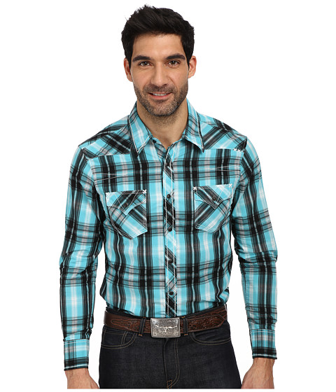 Rock and Roll Cowboy - L/S Snap B2S1360 (Black/Jade) Men's Long Sleeve Button Up