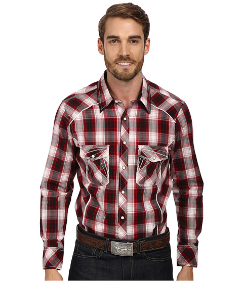 Rock and Roll Cowboy - Camo L/S Snap (Red) Men's Long Sleeve Button Up