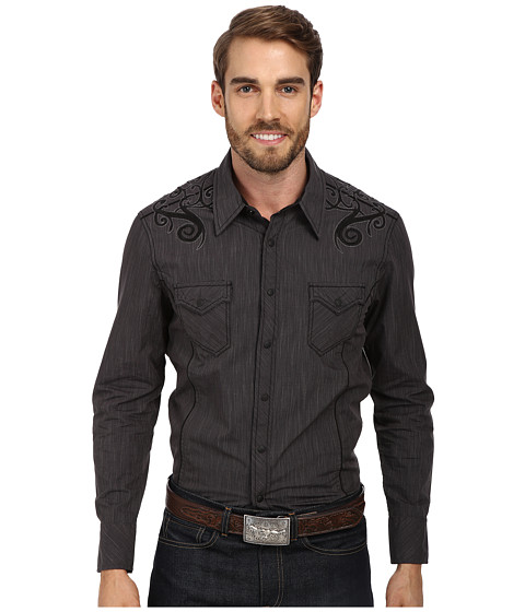 Rock and Roll Cowboy - L/S Snap B2S1352 (Charcoal) Men's Long Sleeve Button Up
