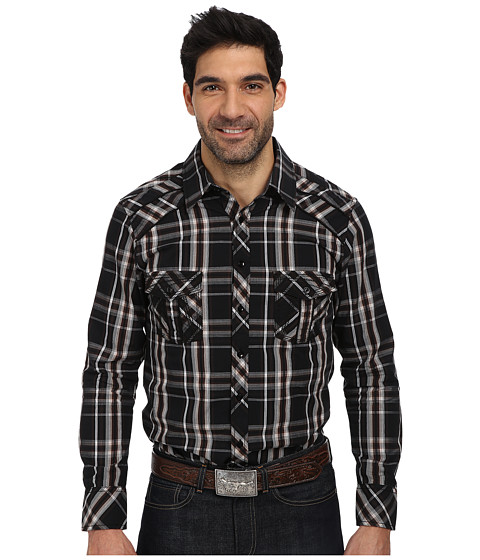 Rock and Roll Cowboy - L/S Snap B2S1355 (Brown) Men's Long Sleeve Button Up