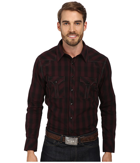 Rock and Roll Cowboy - L/S Snap B2S1365 (Maroon) Men's Long Sleeve Button Up