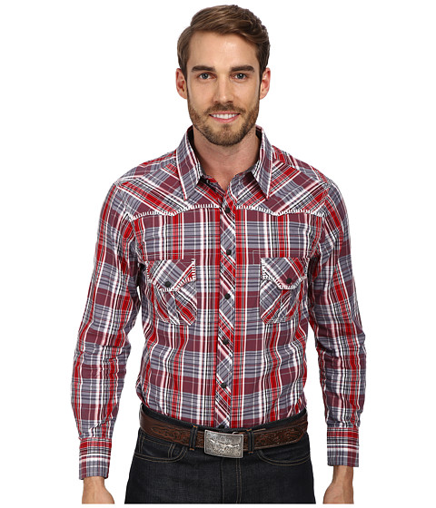 Rock and Roll Cowboy - L/S Snap B2S1354 (Red) Men's Long Sleeve Button Up