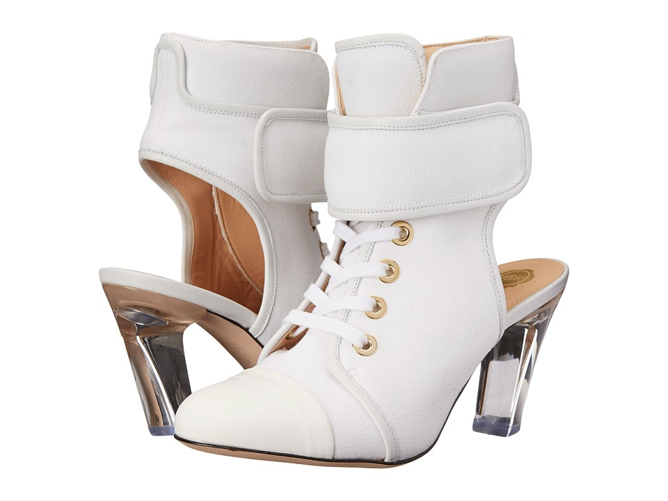 Viktor & Rolf Lace Front Bootie (White) Women