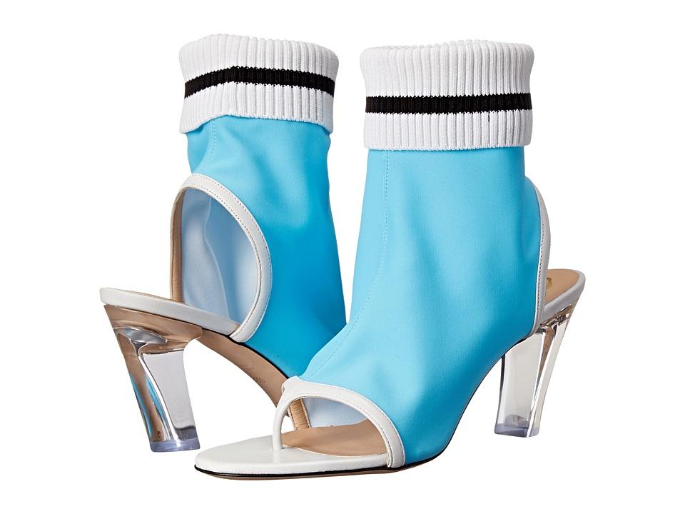 Viktor & Rolf - Open Toe Lycra Bootie (Sky Blue) Women's Boots